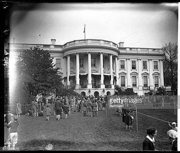 4/21/1930Washington DC Thousands of kiddies gather at the White House lawns in Washington every Easter Monday for the eggrolling This Easter Monday...