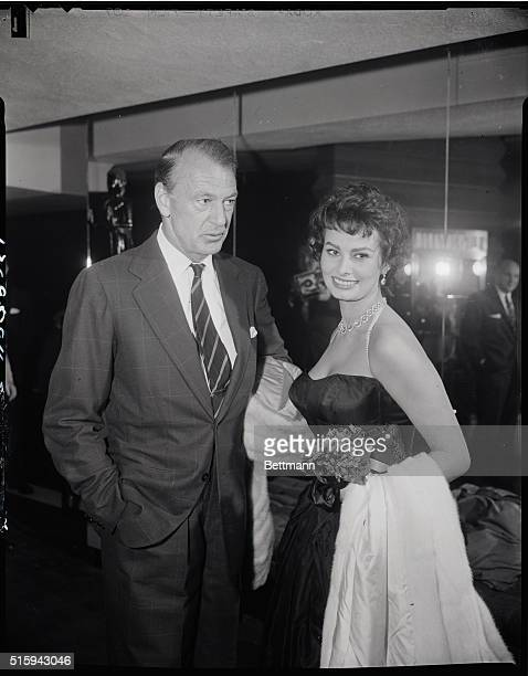 4/23/1958New York NY After an announcement on April 17th that veteran screen actor Gary Cooper had undergone plastic surgery at the Manhattan Eye Ear...