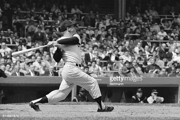 4241960new york ny mickey mantle batting during a game against baltimore at