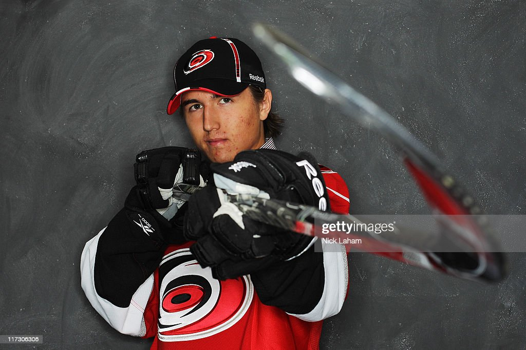 42nd overall pick Victor Rask by the Carolina Hurricanes poses for a portrait during day two of the 2011 NHL Entry Draft at Xcel Energy Center on June 25, 2011 in St Paul, Minnesota.