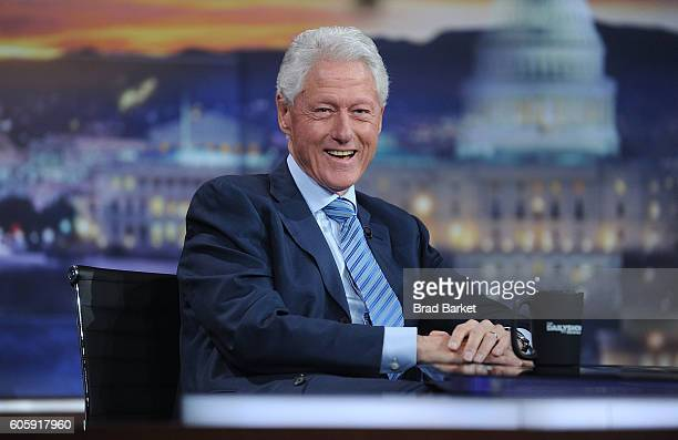 42nd President of the United States Bill Clinton attends The Daily Show with Trevor Noah on September 15 2016 in New York City