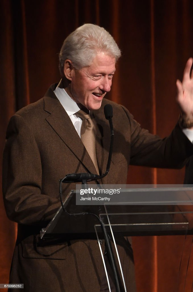 42nd U.S. President Bill Clinton speaks on stage at the Food Bank for New York City Can-Do Awards Dinner 2017 on April 19, 2017 in New York City.