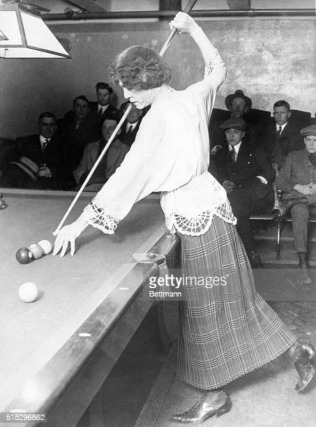 4/4/1928Los Angeles CA Photo shows 'Frances Anderson' who for many years masqueraded as the women's champion billiard player of the world In death...