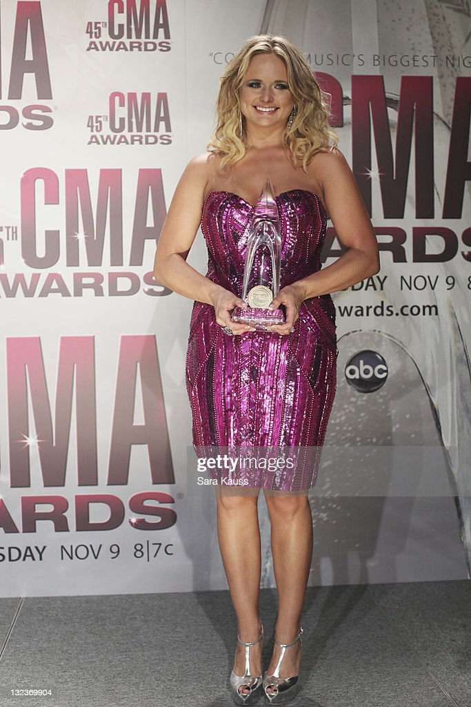 THE 45th ANNUAL CMA AWARDS - GENERAL - 'The 45th Annual CMA Awards' broadcast live on ABC from the Bridgestone Arena in Nashville on WEDNESDAY, NOVEMBER 9 (8:00-11:00 p.m., ET). ((Photo by Sara Kauss / ABC via Getty Images)MIRANDA