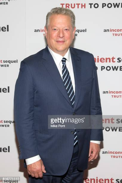 45th Vice President of the United States Al Gore attends 'An Inconvenient Sequel Truth To Power' New York Screening at the Whitby Hotel on July 17...