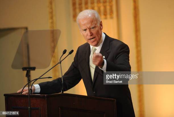 47th Vice President of the United States Joe Biden attends the Help USA 30th Anniversary Luncheon at The Plaza Hotel on March 16 2017 in New York City