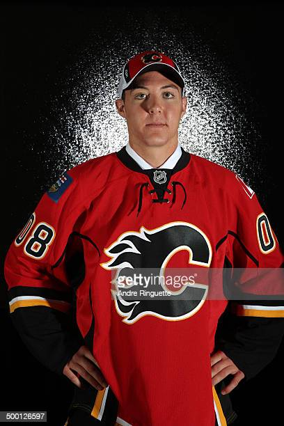 48th overall pick Mitch Wahl of the Calgary Flames poses for a portrait at the 2008 NHL Entry Draft at Scotiabank Place on June 21 2008 in Ottawa...