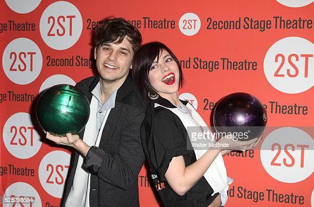 4Andy Mientus Krysta Rodriguez attending the Second Stage Theatre's 26th Annual AllStar Bowling Classic at Lucky Strike Lanes Lounge in New York City...