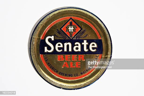 Senate Beer Ale Coaster at the Heurich House on December 4 2012 in Washington DC