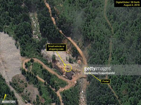 Figure 2 Small vehicle or object present at West Portal Date Aug 4 2016 This image is from the Punggyeri Nuclear Test Site and was featured in the...