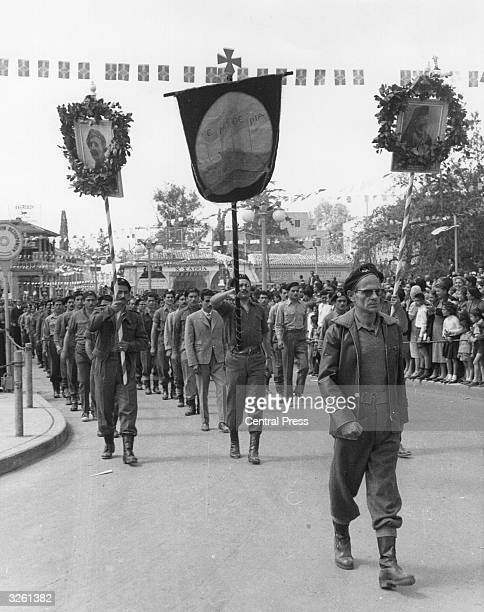 A military parade in Nicosia to mark the sixth anniversary of the Eoka operations in Cyprus