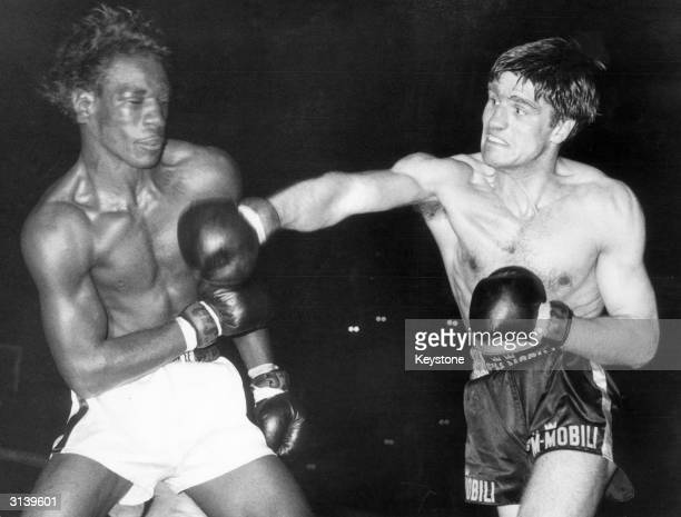Italian boxer Nino Benvenuti fighting American Rip Randall in Rome