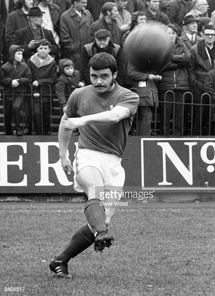 British footballer Keith Peacock in action for Charlton Athletic