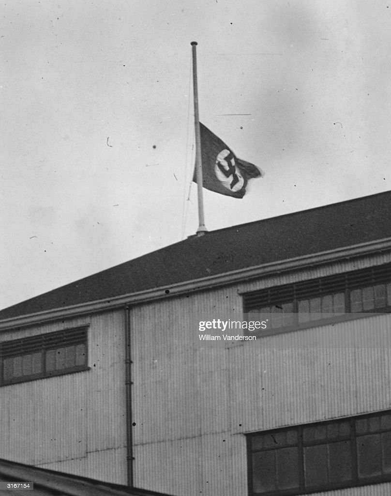 swastika at half mast pictures getty images