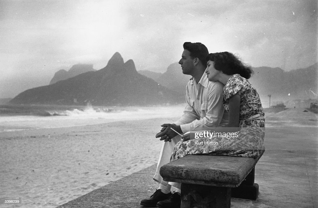 Shop girl Lucy Pereira spends a romantic day on Ipanema Beach in Rio de Janeiro with her boyfriend Original Publication Picture Post 4971 A Shop Girl...