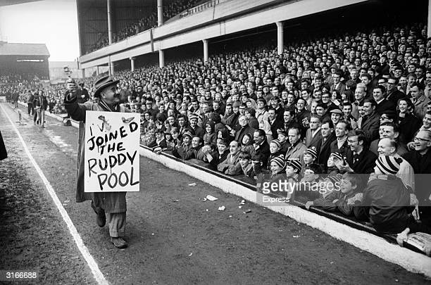 Warren Mitchell star of the television comedy program 'Till Death Us Do Part' at West Ham United's Football Stadium Upton Park in the EastEnd of...