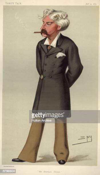 Bret Harte pseudonym of Francis Brett Hart American writer Caricature by Spy Vanity Fair Men Of The Day No 191 pub 1879