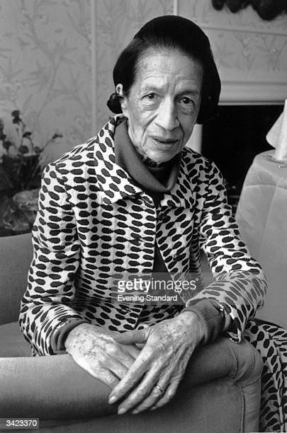 Diana Vreeland Frenchborn editor of American Vogue magazine up to 1971