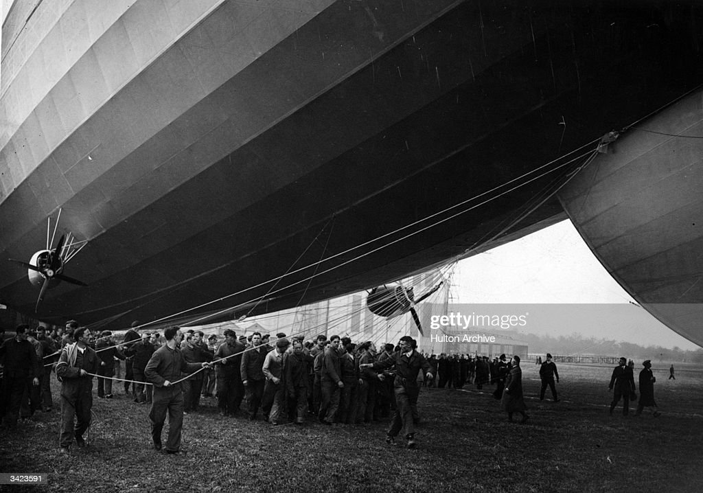 First flight of the zeppelin-airship 'Hindenburg', LZ 129. A round trip to New Jersey a few months later took just over four and a half days.