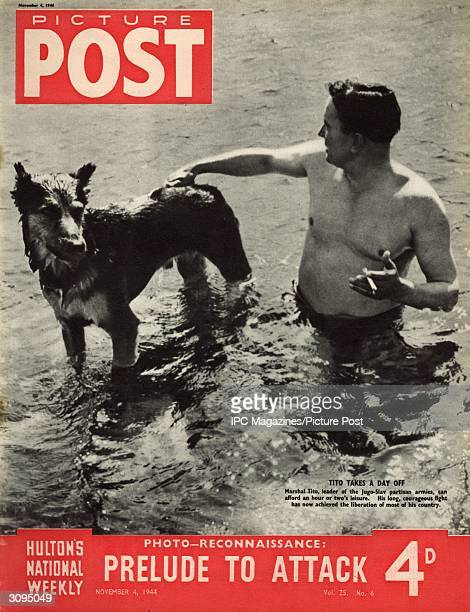 Josip Broz Tito who led the Yugoslav partisan armies in their resistance against the German invaders during World War II takes a moment of leisure to...