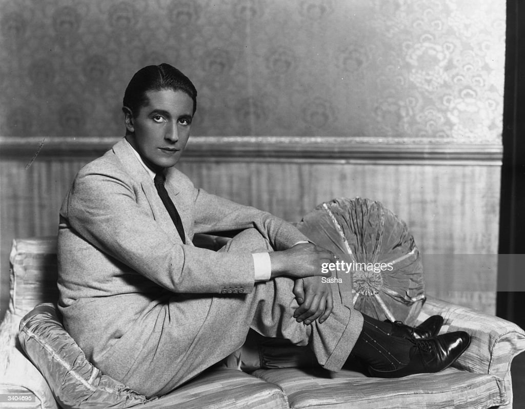 Welsh actor and songwriter Ivor Novello in 'The Truth Game' at the Globe Theatre