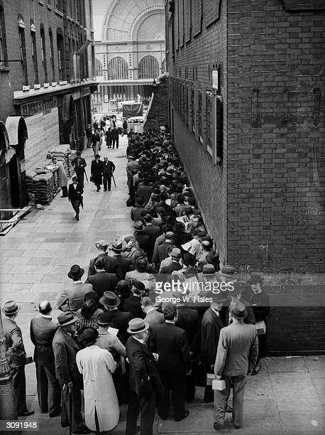 Immigrants registering at a church in Golders Greens London