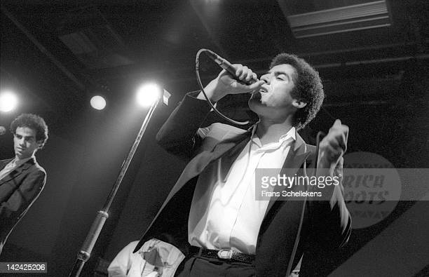Algerian Rai singer Cheb Mami performs live on stage at the Melkweg in Amsterdam Netherlands on 4th September 1986