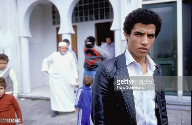 Portrait of Algerian Rai singer Cheb Mami in Amsterdam Netherlands on 4th September 1986