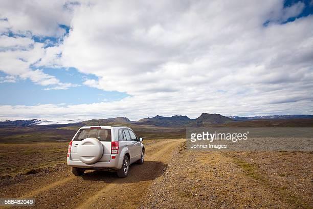 4x4 car in mountain landscape
