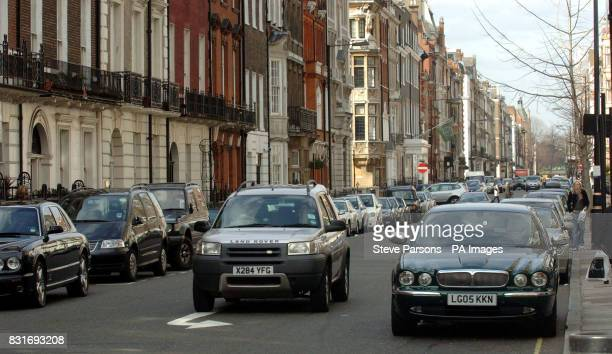 A 4x4 car travels near Cavendish Square in Central London