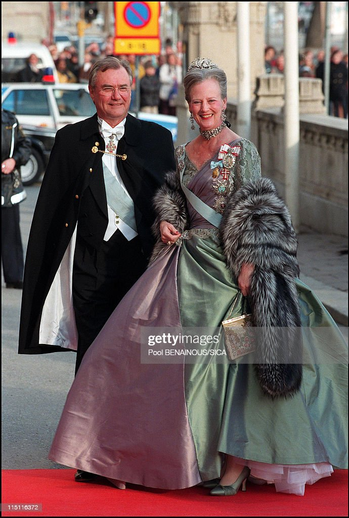 50th anniversary of king Carl Gustav of Sweden in Stockholm Sweden on April 30 1996 Margrethe II of Denmark