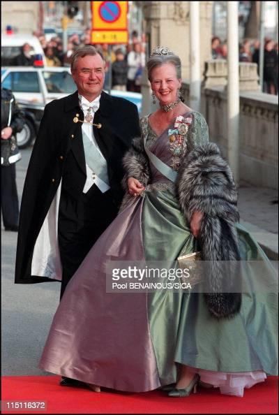 50th anniversary of king Carl Gustav of Sweden in Stockholm Sweden on April 30 1996 Margrethe II of Denmark