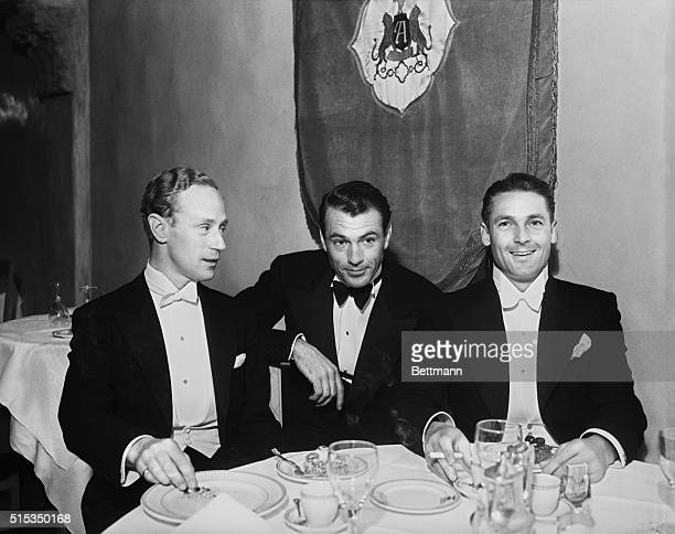 5/10/1933Los Angeles CaliforniaThree of the celebrities of the film world who attended the dinner and dance given at the Ambassador Hotel by Rouben...