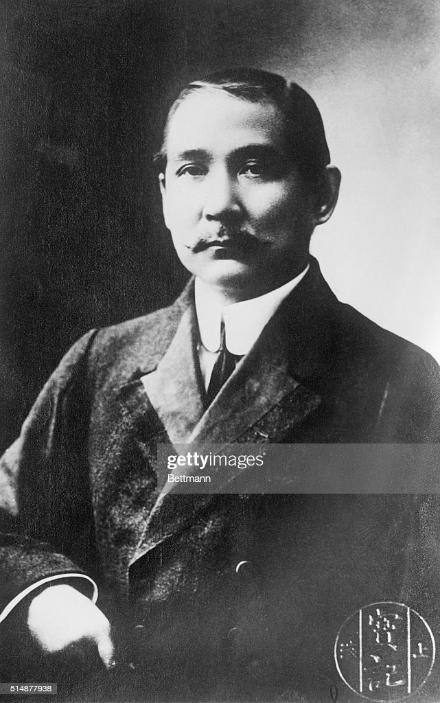 Dr. <a gi-track='captionPersonalityLinkClicked' href=/galleries/search?phrase=Sun+Yat-Sen&family=editorial&specificpeople=92743 ng-click='$event.stopPropagation()'>Sun Yat-Sen</a>, leader of the Canton Government, which seeks control in China. Dr. Sun, known to be a powerful influence in China, aspires to the presidency and commands a great body of troops that has already gone a great way towards placing their leader in the president's chair.