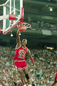 5/12/1988Pontiac MIChicago Bulls superstar Michael Jordan slams two of his 36 points and screams to lead the Bulls to a 10595 win over the Detroit...