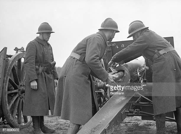 5/18/1940Somewhere in France French 75 mm field guns that won undying fame in the world war are being used by the thousand in an attempt to check the...