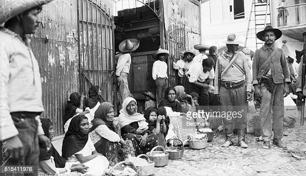 5/20/1914Tampico MexicoScene in the Plaza at Tampico after the rebel victory showing women and children