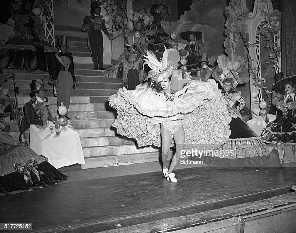 Josephine Baker dancing the CanCan in the 'Bal Mabille' act