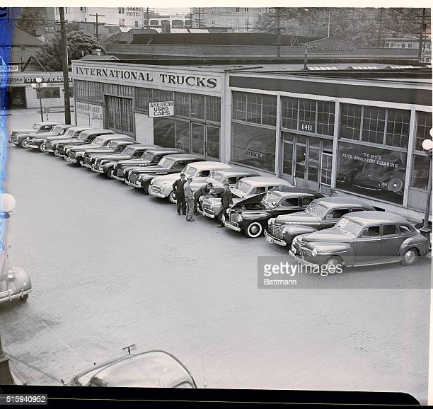 5/28/42Seattle Washington Here are some of scores of automobiles stolen by a nationwide $1000 auto theft ring 25 of which were recovered in Seattle...