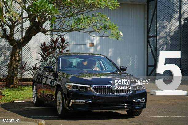 A BMW 530i sedan stands outside the PT Gaya Motor plant in Jakarta Indonesia on Wednesday Aug 2 2017 BMW is scheduled to report secondquarter results...