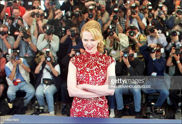 54th Cannes film festival Photocall 'MoulinRouge' In Cannes France On May 09 2001Nicole Kidmann