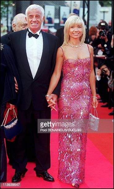 54th Cannes film Festival stairs of 'Roberto succo' by Cedric Khan In Cannes France On May 14 2001JeanPaul Belmondo and Natty