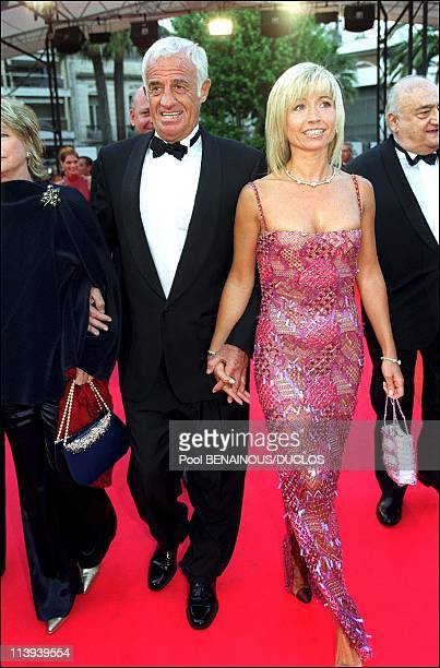 54th Cannes film Festival stairs of 'Roberto succo' by Cedric Khan In Cannes France On May 14 2001Natty and JeanPaul Belmondo