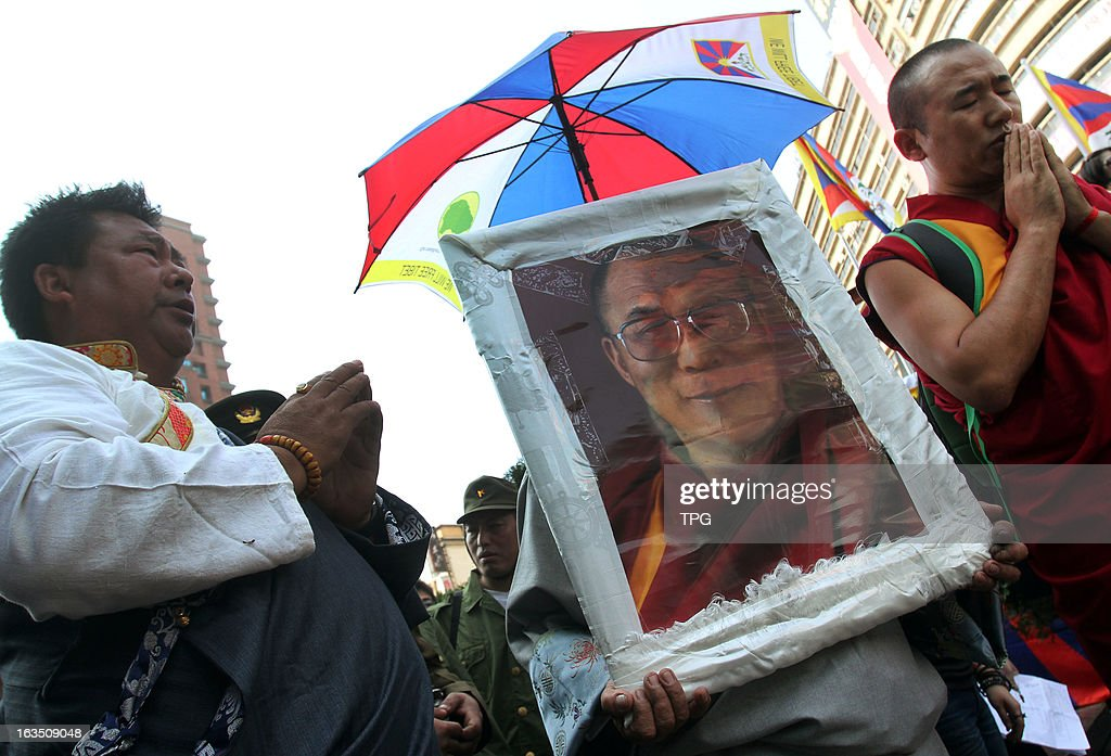 54th commemorated parade of Uprisings in Tibet was held by Tibatans and supported citizens on Sunday March 10, 2013 in Taipei, Taiwan, China.