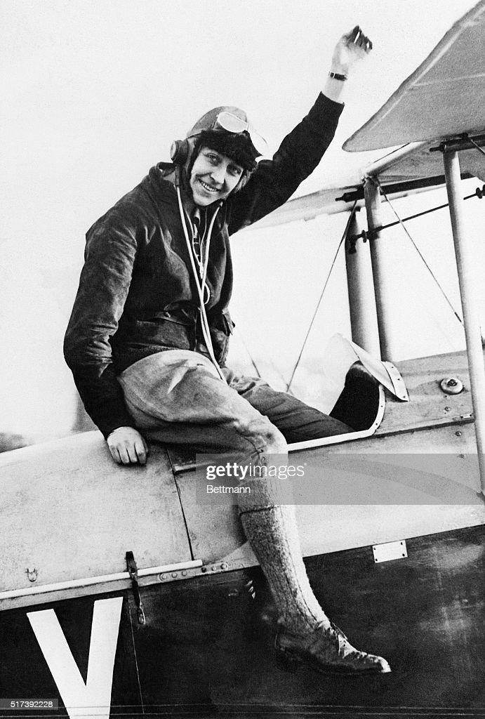 5/5/1930London England Miss Amy Johnson 22 year old Aviatrix of England who hopped off this morning on her attempted solo flight to Australia000...