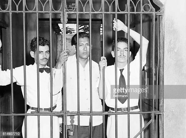 5/5/1948San Juan Puerto Rico Pictured behind bars after revolting at the University of Puerto Rico are students Pelegrina Garcia Jose Gil De LaMadrid...