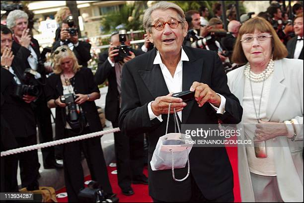 55th Cannes film festival Stairs of 'Ararat' In Cannes France On May 20 2002Helmut Newton and wife
