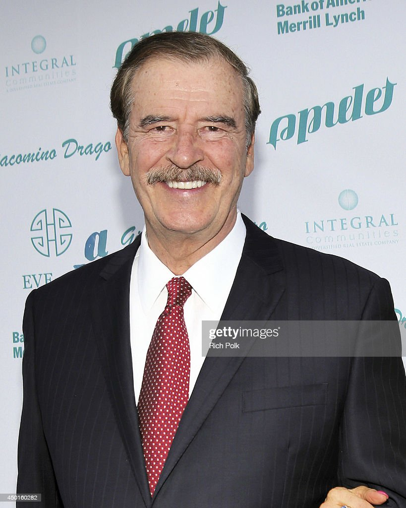 55th President of Mexico, <a gi-track='captionPersonalityLinkClicked' href=/galleries/search?phrase=Vicente+Fox&family=editorial&specificpeople=202615 ng-click='$event.stopPropagation()'>Vicente Fox</a> attends LA UNCOVERED An Evening Benefiting A Better LA at Siren Cube on June 5, 2014 in Los Angeles, California.