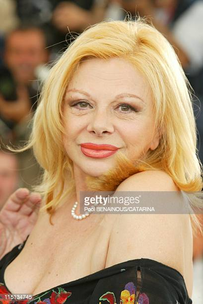 56th Cannes Film Festival Photocall of 'il Cuore Altrove' in Cannes France on May 17 2003 Sandra Milo