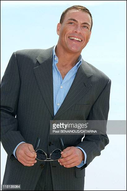 56th Cannes Film Festival Photocall of Jean Claude Van Damme for 'After Death' in Cannes France on May 18 2003